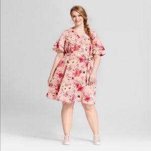 Ava & Viv Floral Fit and Flare Dress Size 1X
